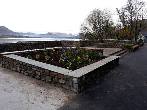 Site 1 - new seating area looking over Ullswater